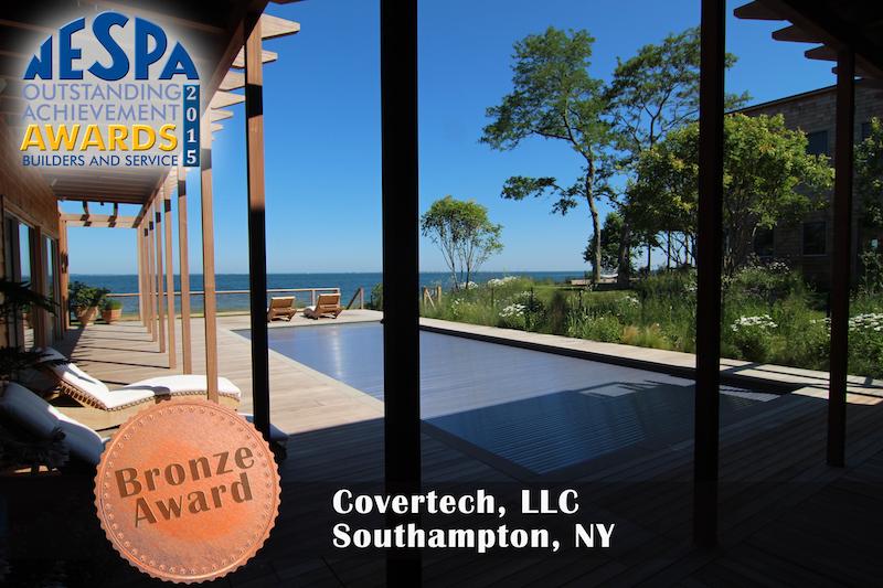 Covertech - Grando automatic rigid free form pool cover Bronze2 Award NESPA 2015