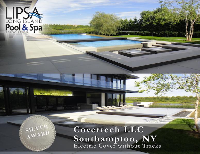 Covertech - Grando automatic rigid free form pool cover SILVER 01 Award LISPA 2015