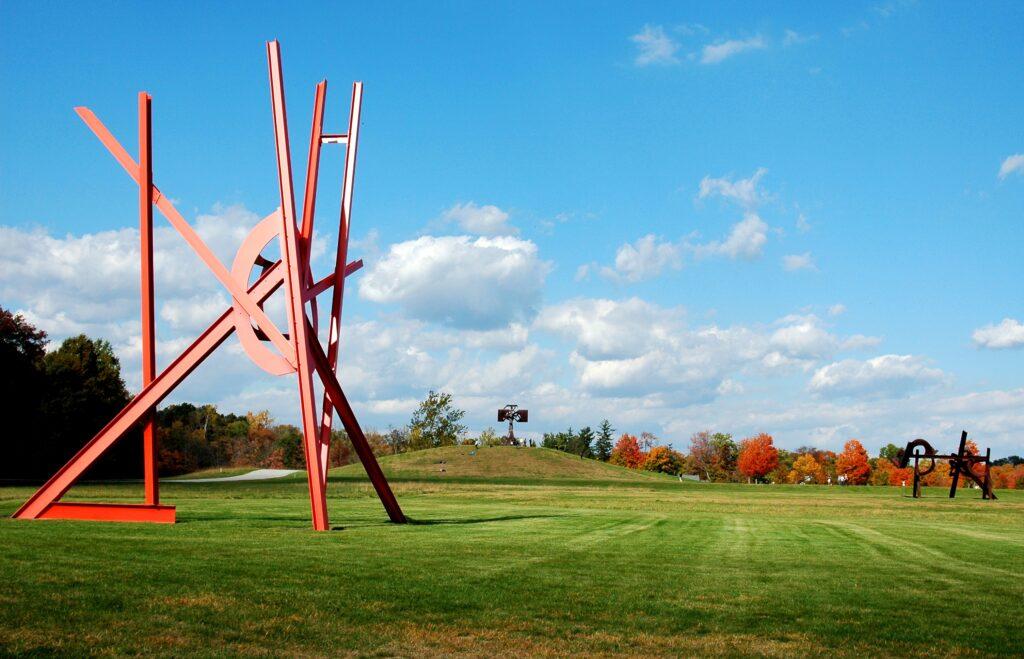Large sculpture in open field