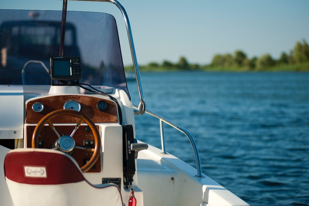 captains chair on boat