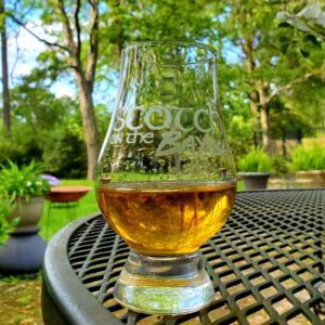 Scotch on the Bayou Glencairn glass with Glenfarclas 17 scotch whisky
