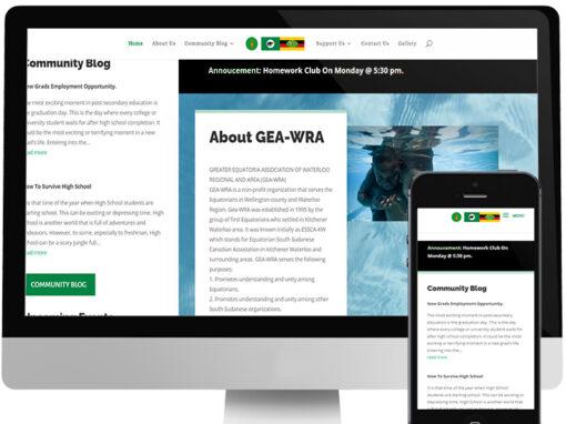 GEA-WRA WEBSITE DESIGN
