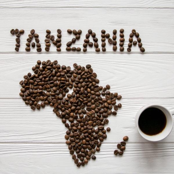 Tanzania made of coffee beans