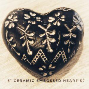 Ceramic Embossed Heart
