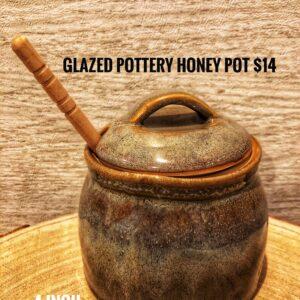 Glazed Pottery Honey Pot