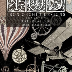 """Explorations Transfer Set (pad of 8 12""""x16"""" sheets) by IOD - Iron Orchid Designs"""