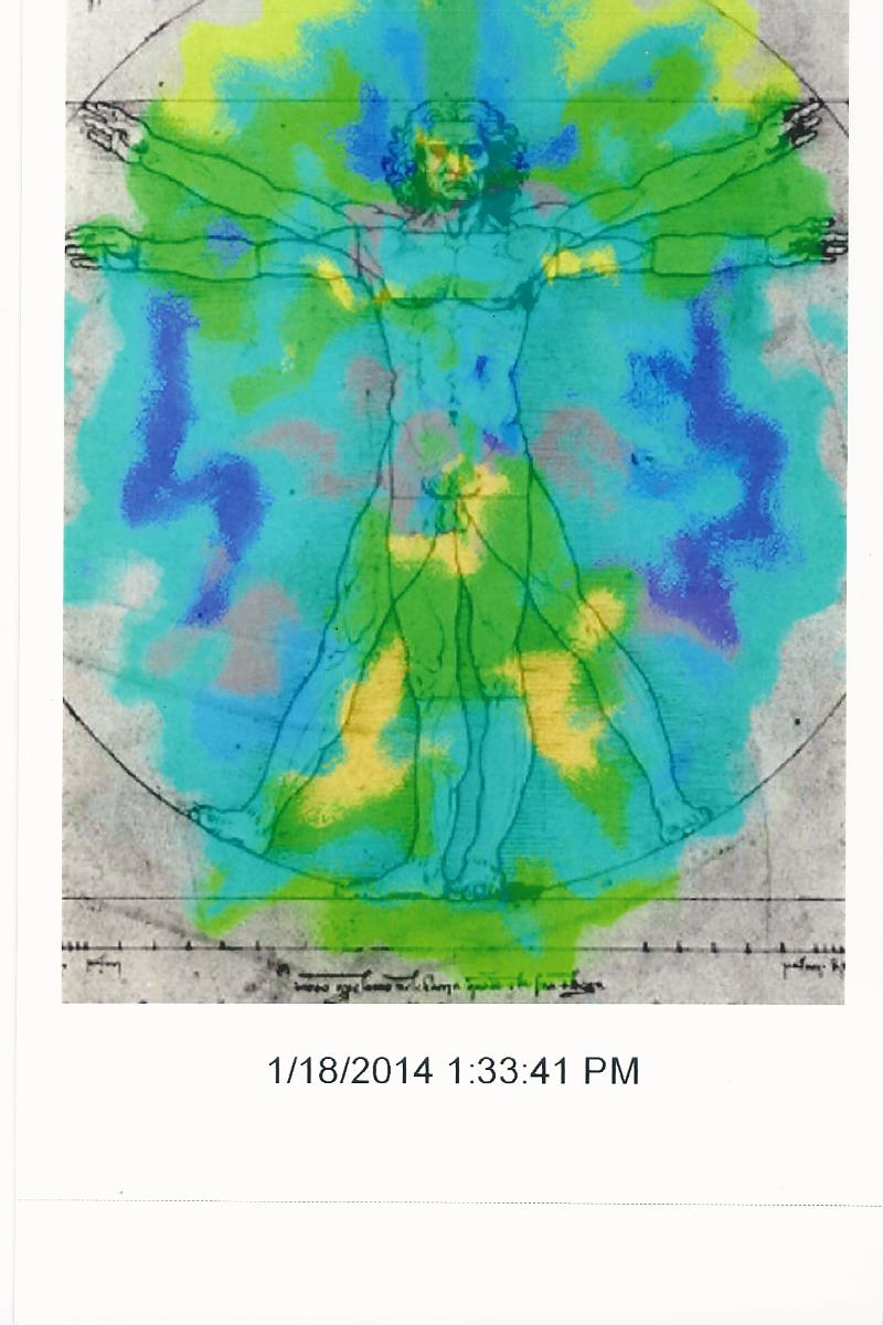 Aura scan photo sample