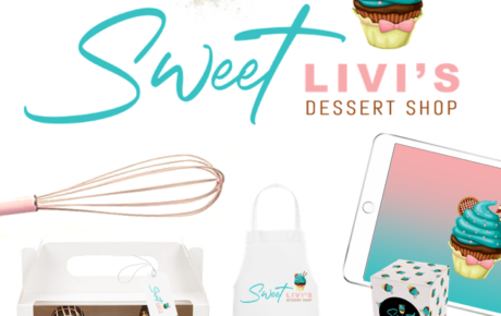 Sweet Livi's Logo | Bakery Logo Design | Bakery Branding Design | Bakery Graphic Design | Baker Logo Design