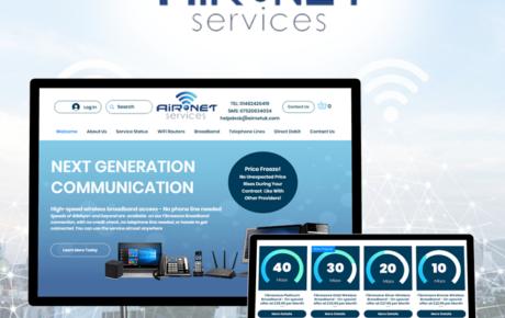 Air Net Services Website | Internet Company Web Design | Phone Company Web Design | Internet Company Website Designer | Phone Company Website Designer