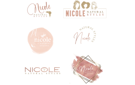 Nicole Natural Styles Logos | Stylist Logo | Hair Salon Logo | Hairdresser Logo Design | Hair Stylist Logo Design