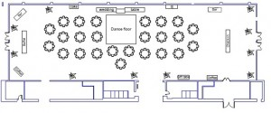 Wedding Floor Plan for 200 people at the downtown Renton Pavilion Event Center
