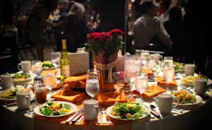 Dinner set up at the downtown Renton Pavilion Event Center