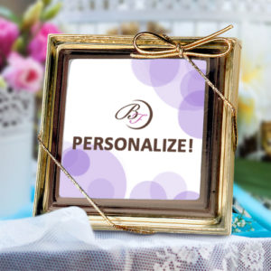 Square Chocolate Party Favor