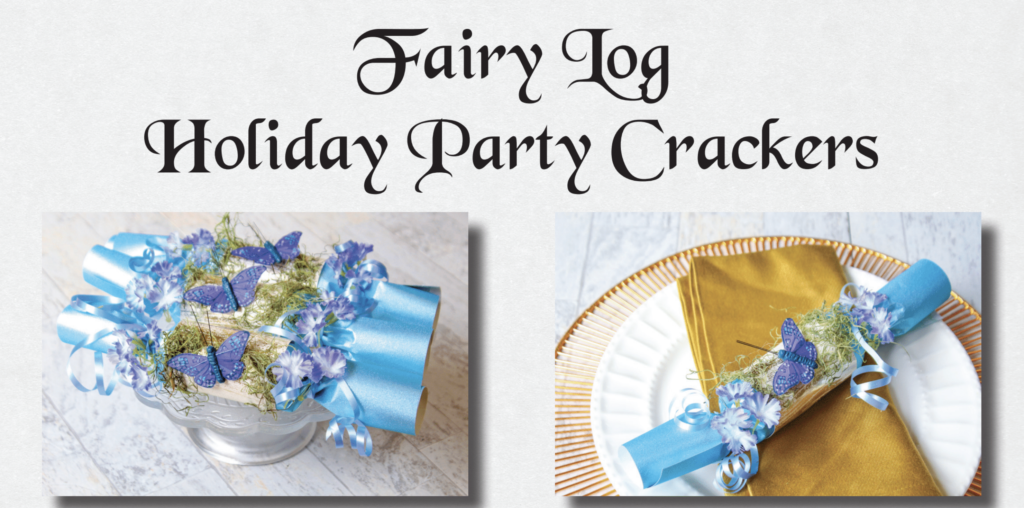 Fairy Log Holiday Party Poppers