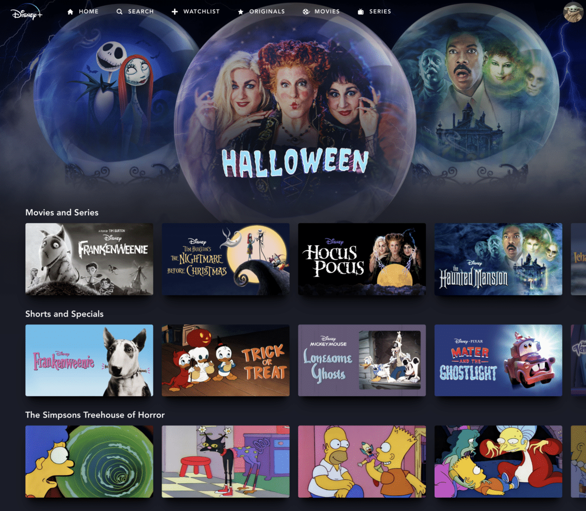 The Ultimate List of Halloween Movies and Shows on Disney+
