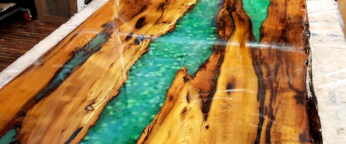 Resin River Table