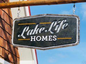 LakeLife Homes Showroom Sign