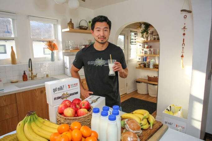 Marvel 'Shang Chi' Super Hero, Simu Liu, joins the creators of 'got milk?' on Thursday, May 13, 2021, to kick-off the #StayStrongTogether challenge on IG and Twitter with the debut of a fun video. The effort marks a partnership between California Milk Processor Board and No Kid Hungry to help provide up to 1 million meals to school feeding programs throughout the Golden State. (Photo by Rachel Murray Framingheddu for CMPB/Getty Images).