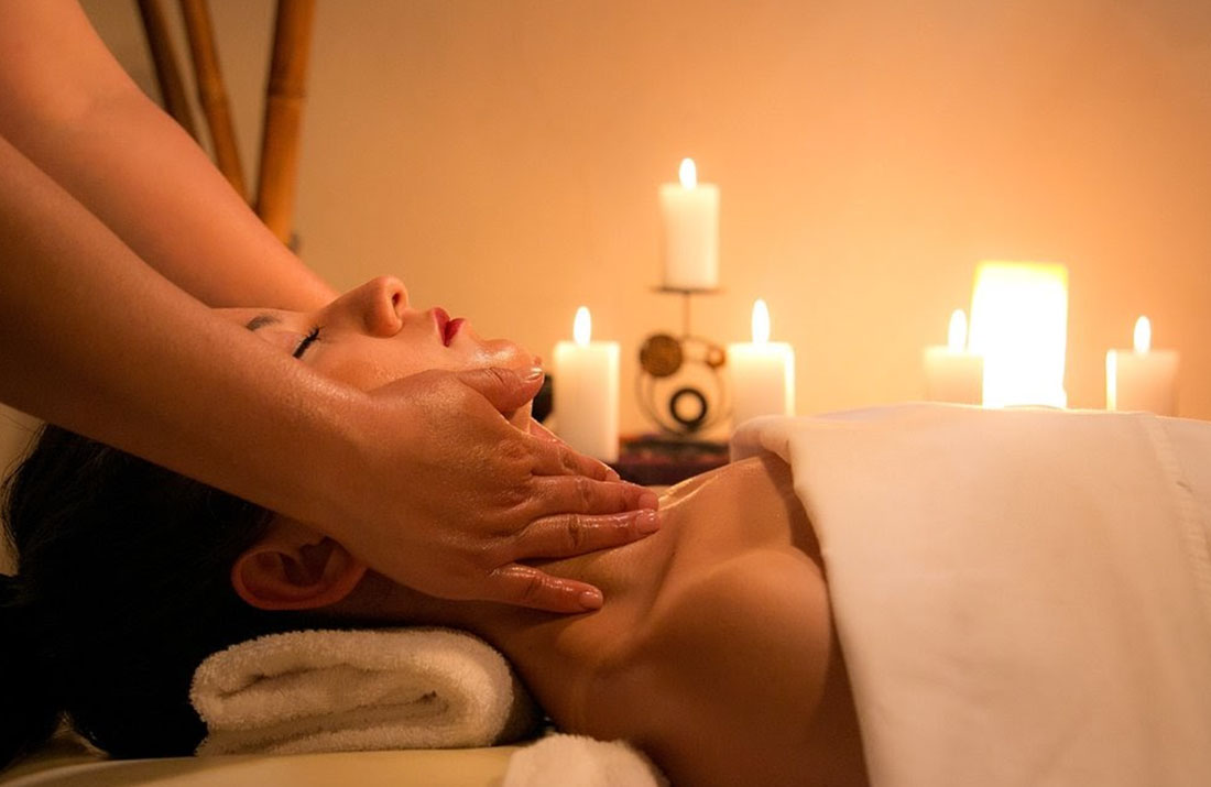 Healing and relaxing massage