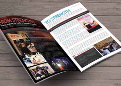 2 Page Magazine Ad