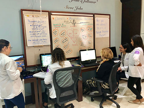 Primary care team at work