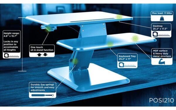 Posidesk POSI210BK pedestal desk specs