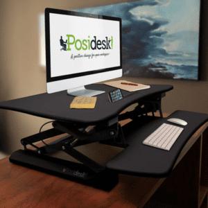 posidesk POSI203 medium executive sit stand desk black 2