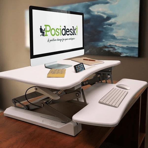 posidesk POSI203 medium executive sit stand desk white 2