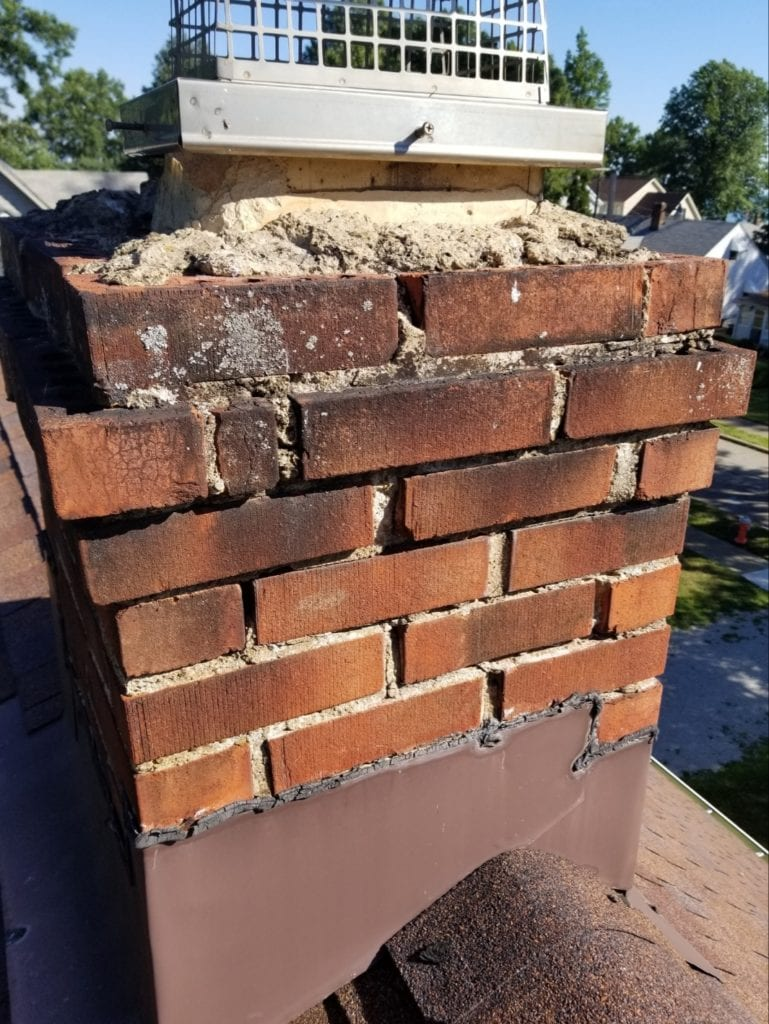 chimney cleaning cleaners caps fireplace flue damper doors chimney repair relinging smoke chamber crown leaks water repellent smoke problem flashing masonry tuckpoint dryer vent 44039