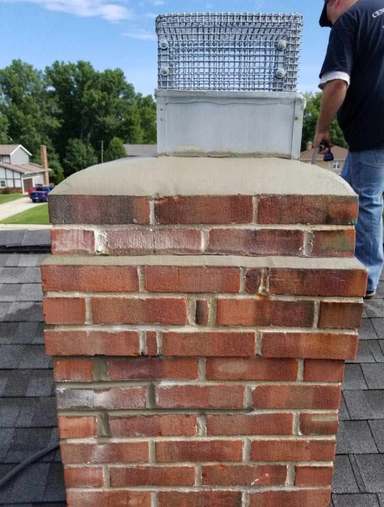 olmsted falls ohio chimney cleaning cleaners caps fireplace flue damper doors sweep repair relinging smoke crown leaks water repellent smoke problem flashing masonry tuckpoint (6)