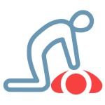 icon of a person giving cpr