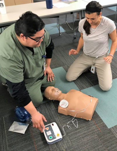 Image of AED rescue class