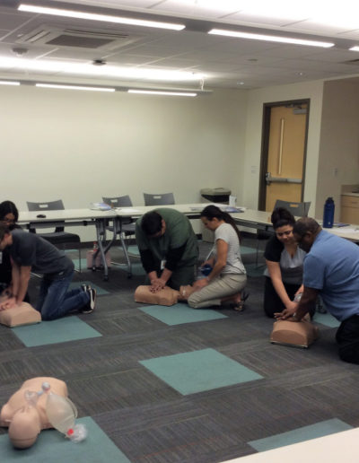 Image of class session - CPR training