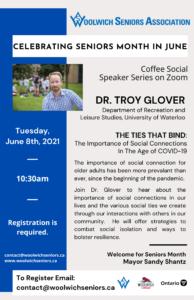 Dr. Troy Glover, Seniors Month