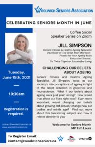 Jill Simpson, Seniors Month