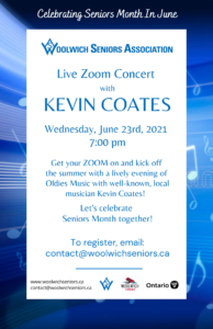 Kevin Coates Seniors Month