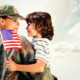 Parole in Place - Solider reunited with son against blue sky