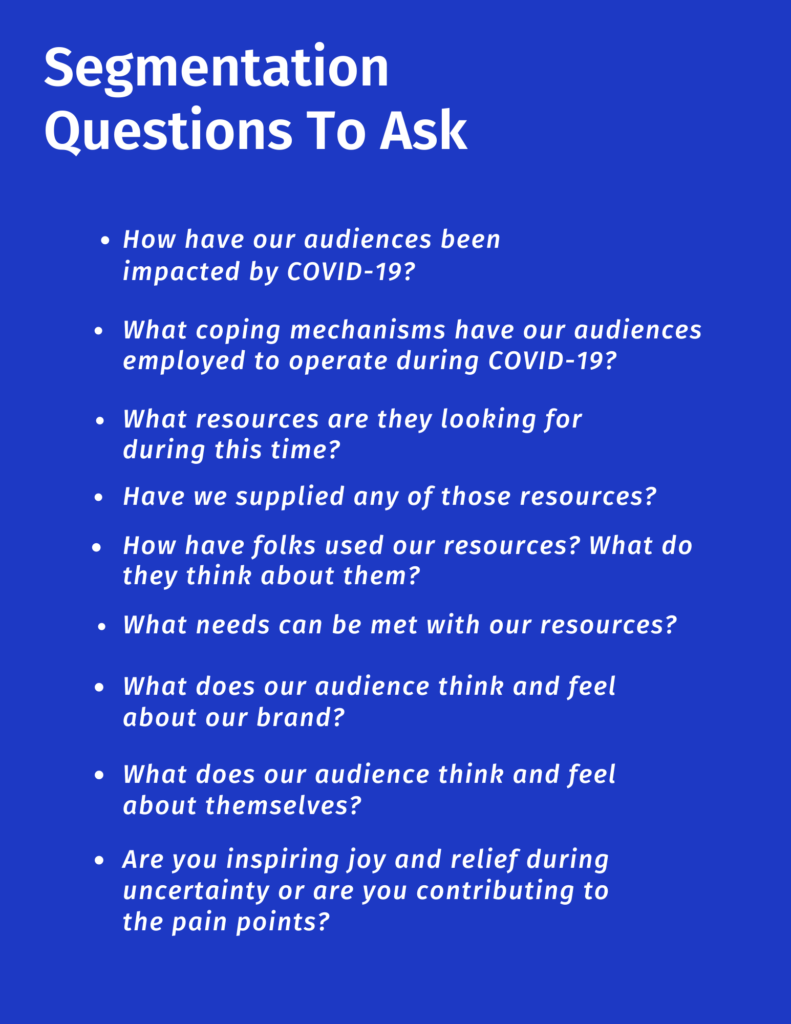 Segmentation questions to ask during COVID-19