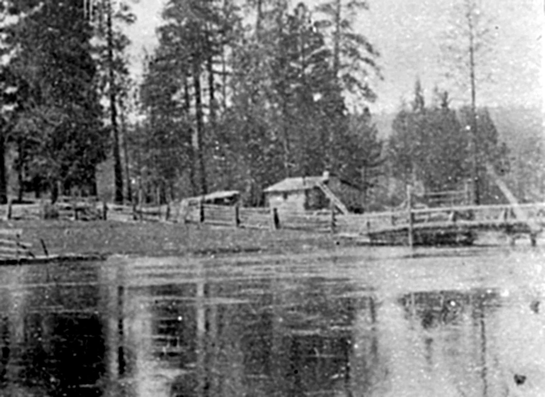 Early Bridge Across the Deschutes River at Farewell Bend