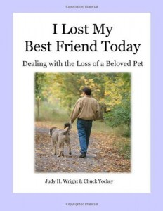I Lost My Best Friend Today book cover. death of a pet, stories about pets, stories about dogs, dogs as pets,horses as pets, why we love our pets, pet grief coach, Judy Helm Wright-pet grief coach, pet  loss, recovering from loss, children and death, children and illness, parent educator, artichoke press , cats as pets