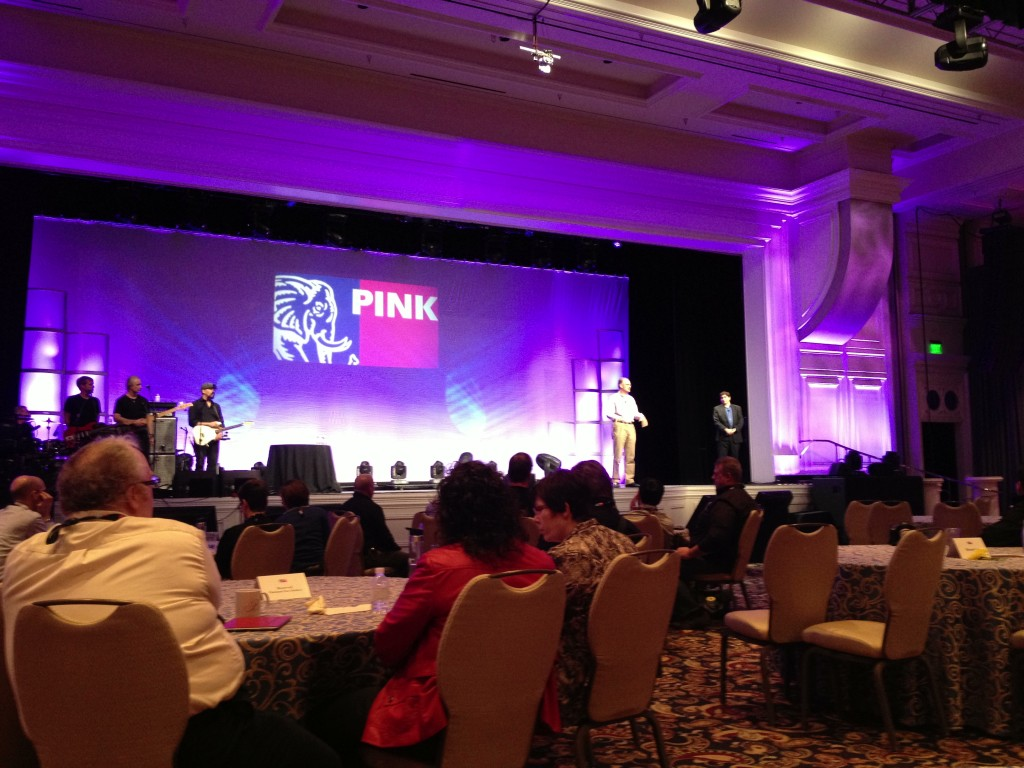 Matt Ridley on stage at Pink13 - photo by Hugo