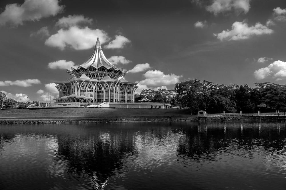 The impressive New Sarawak State Legislative Assembly Building - Kuching