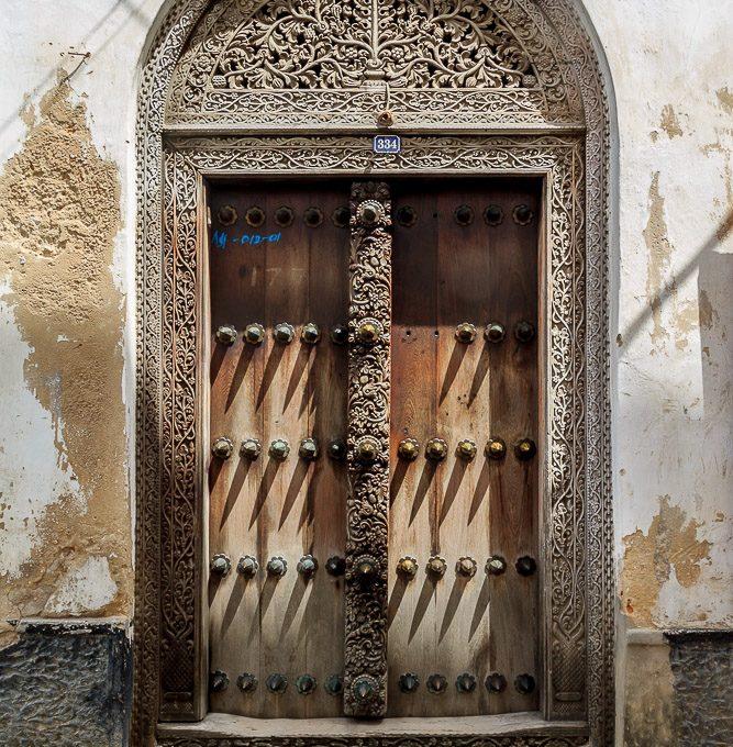 Zanzibari Door #334 showing the intricate carvings
