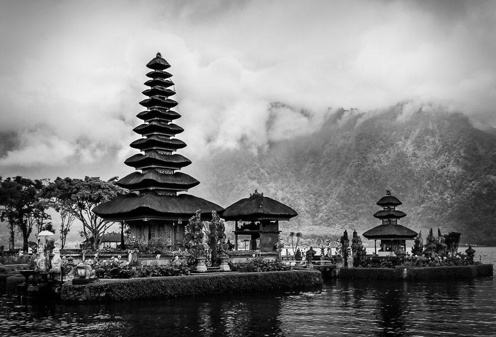The temples of Ulun Danu in Bali, Indonesia