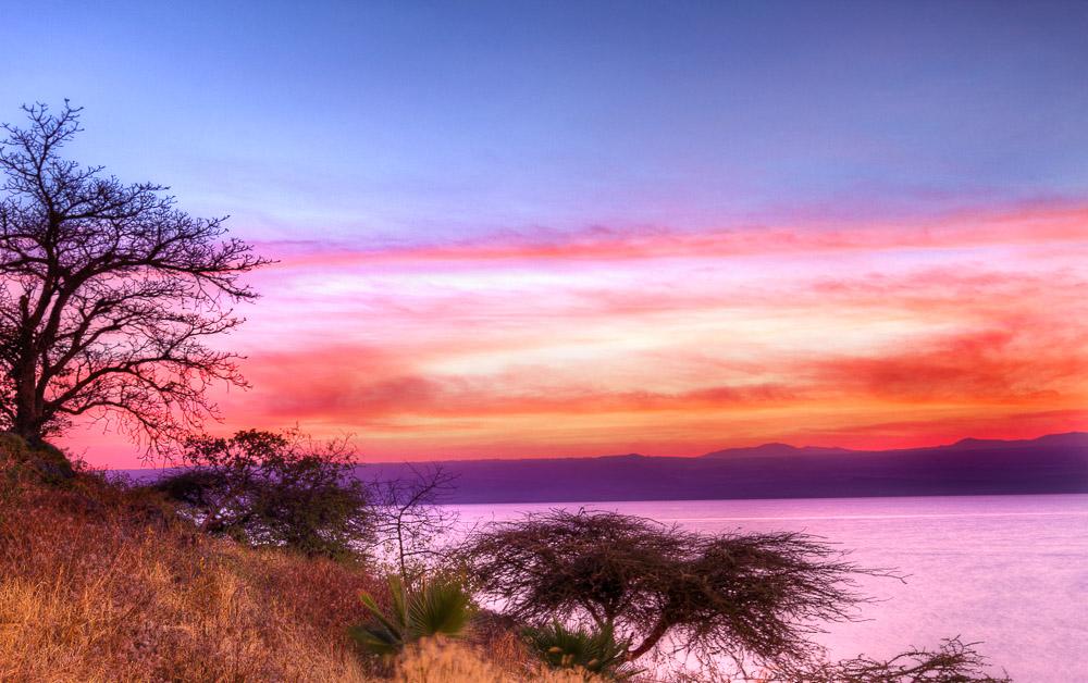 Sunrise at Borati Lodge in Lake Langano