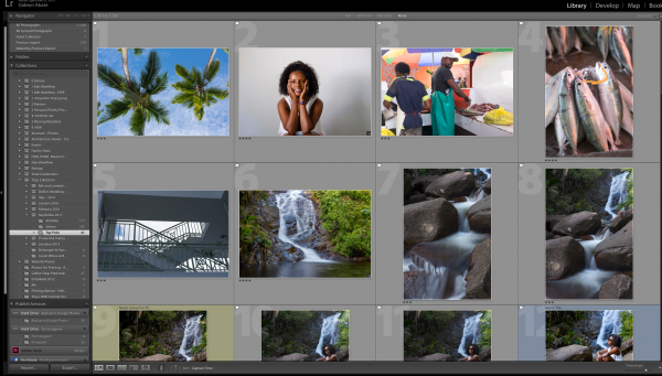 Top pics in a collection in Lightroom