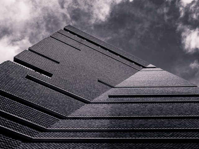 Working at the Pyramids - Tate Modern Extension in Black & White