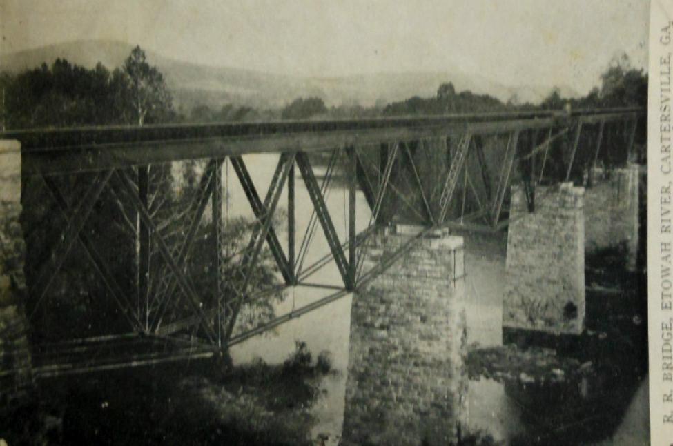 Iron bridge at former Etowah Station