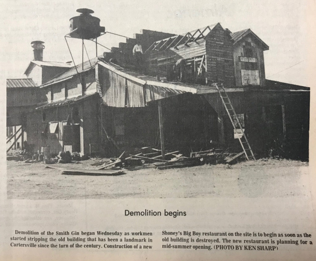 Smith Gin being torn down