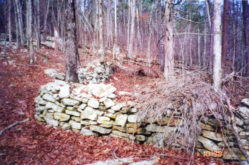 Ancient rock wall of Bartow County